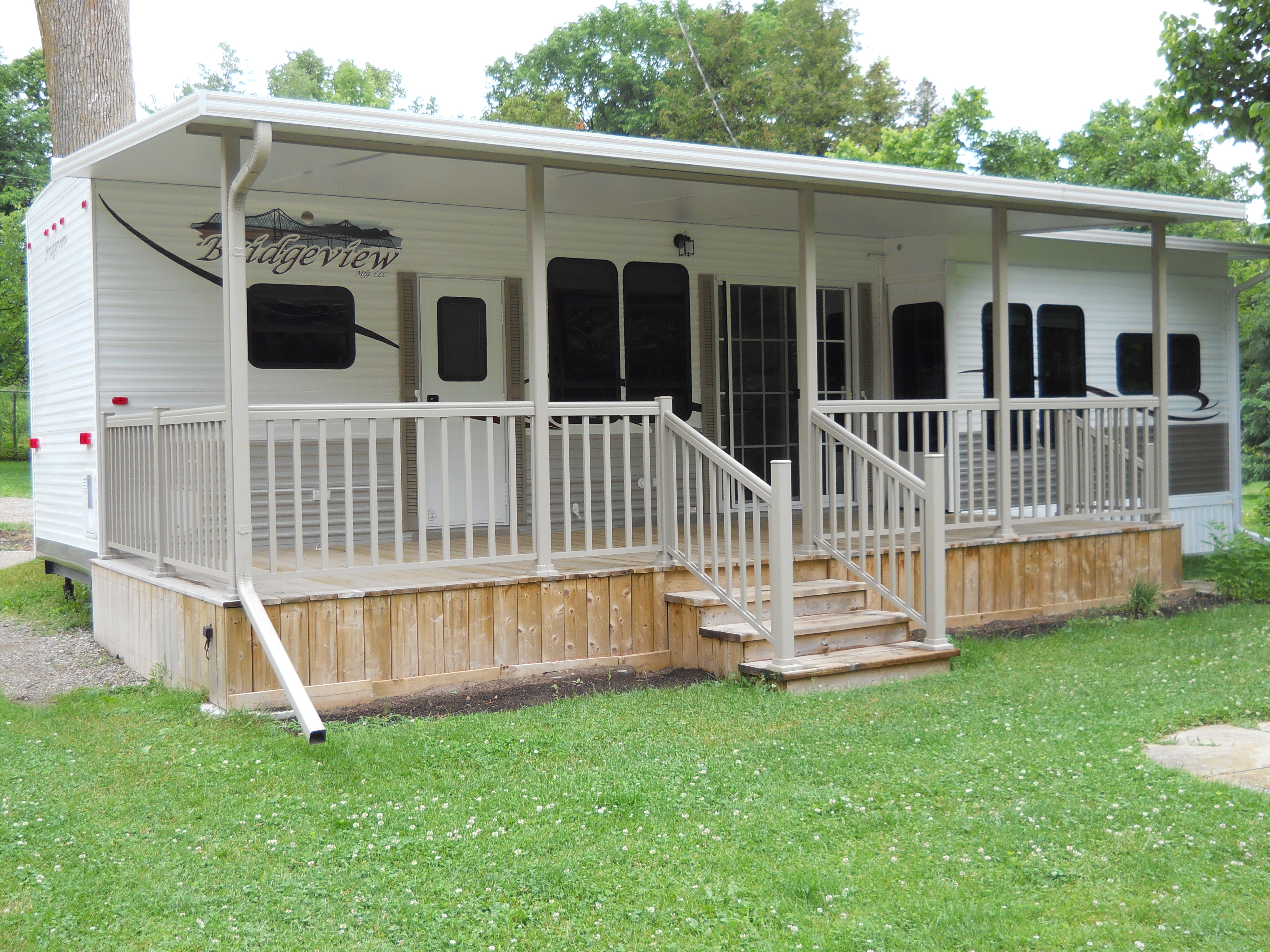 Rv products and services whistle bare campground for Rv decks